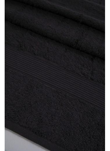 Jua 85*150 Solid Havlu Siyah